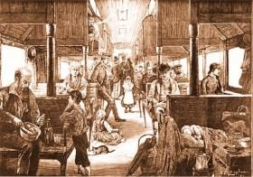 Emigrants on a Train