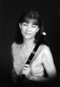 Laura MacKenzie with wooden flute
